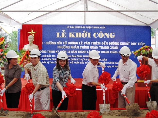 Khởi công đường nối Lê Văn Thiêm - Khuất Duy Tiến, Hà Nội