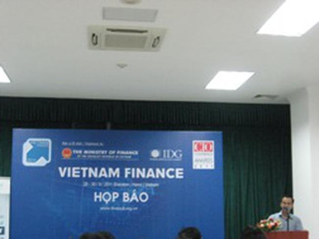 """Họp báo hội thảo triển lãm """"Tài chính Việt Nam 2011"""""""