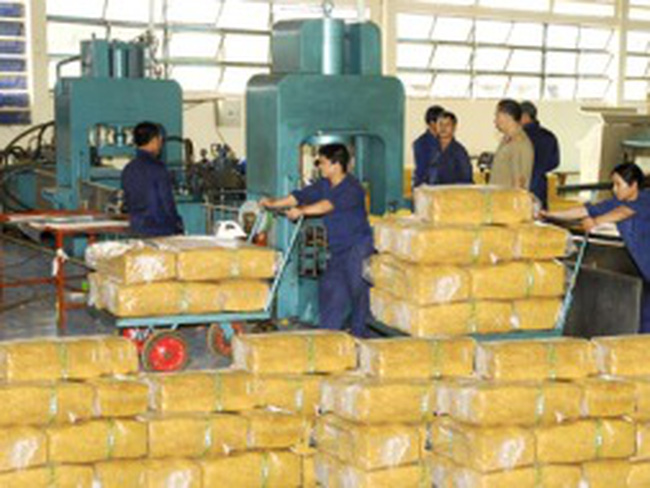 Xuất khẩu cao su sang Trung Quốc đóng băng, giá giảm sâu