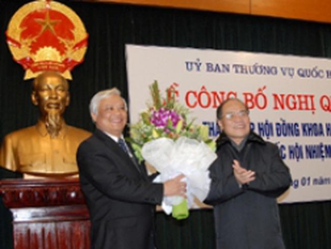 Ông Uông Chu Lưu là Chủ tịch Hội đồng Khoa học QH