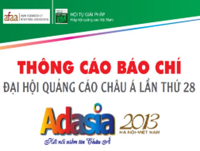 Việt Nam đăng cai Đại hội quảng cáo Châu Á lần thứ 28 (ADASIA 2013)