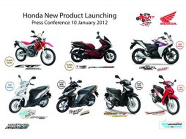 Honda ra mắt 7 mẫu xe mới trong năm 2012