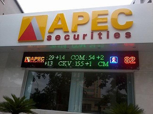 Chứng khoán APEC lỗ hơn 69 tỷ đồng