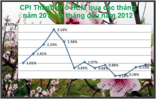 Tp Hồ Chí Minh: CPI tháng 1 tăng 0,89% so với tháng trước