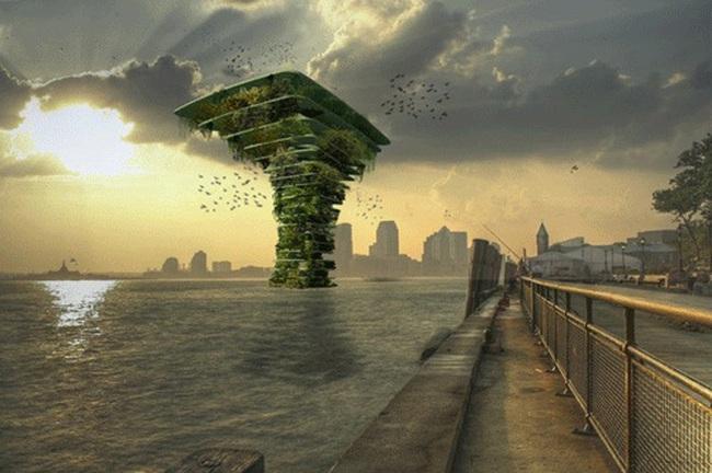 """Ngỡ ngàng với công trình """"cây xanh trên biển"""""""