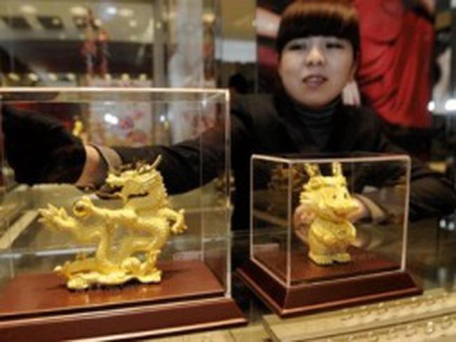 Doanh số bán vàng dịp Tết Nhâm Thìn ở Trung Quốc tăng gần 50%