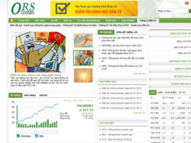 ORS: ''Hoạt động kinh doanh của công ty vẫn diễn ra bình thường''