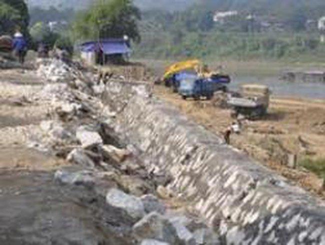 Hơn 465 tỷ đồng xây dựng kè sông Lô và sông Gâm