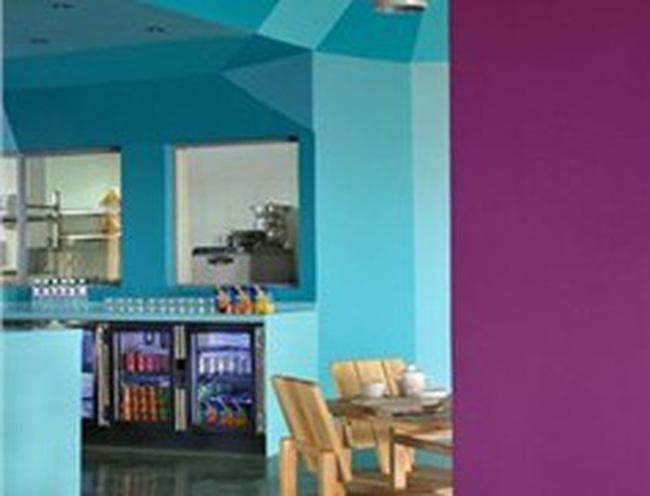 Những căn bếp màu xanh đẹp mắt
