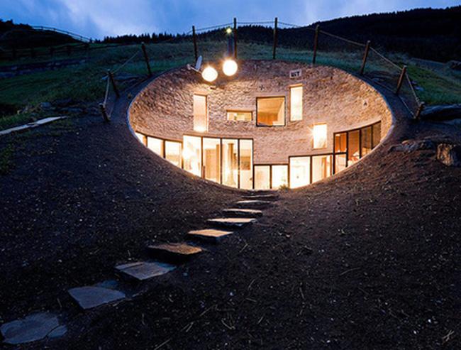 Những ngôi nhà độc đáo dưới lòng đất