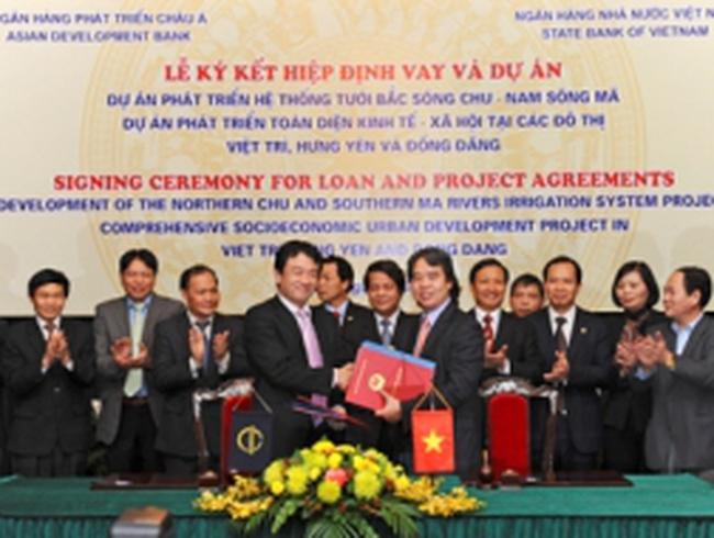 ADB cho vay 180 triệu USD cải thiện hạ tầng thủy lợi và đô thị