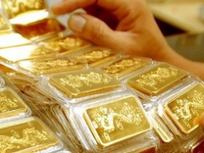 Vàng lên sát 45 triệu đồng