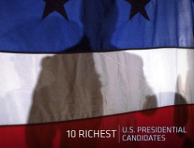 10 ứng cử viên Tổng thống giàu nhất nước Mỹ