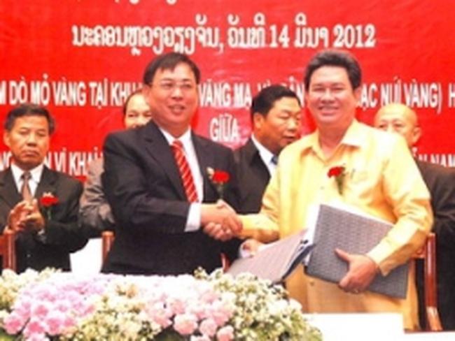 Việt-Lào ký kết hợp đồng thăm dò, khai thác vàng