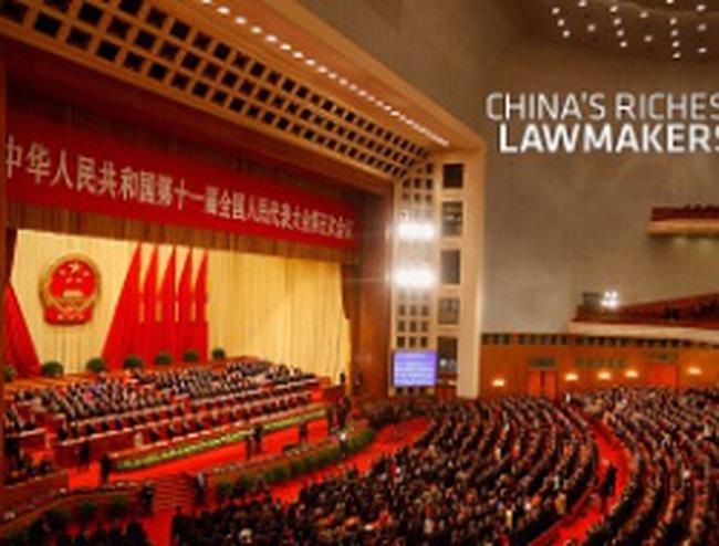 10 gương mặt giàu nhất Quốc hội Trung Quốc