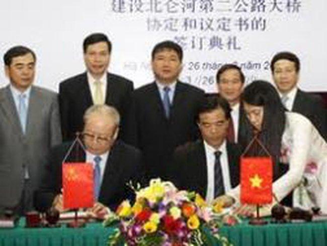 VN và Trung Quốc ký Hiệp định xây cầu Bắc Luân 2