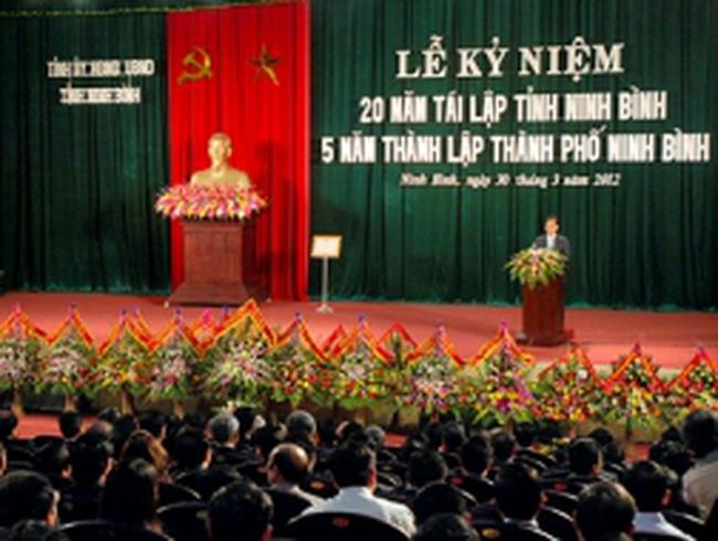 Xây dựng Ninh Bình thành tỉnh phát triển nhanh, bền vững