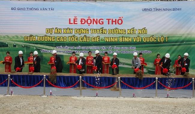 Khởi công đường nối cao tốc Cầu Giẽ - Ninh Bình với QL 1A