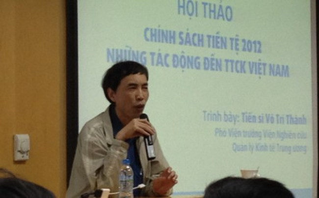 Ông Võ Trí Thành: TTCK năm 2012 có nhiều cơ hội nhưng cũng đầy cạm bẫy