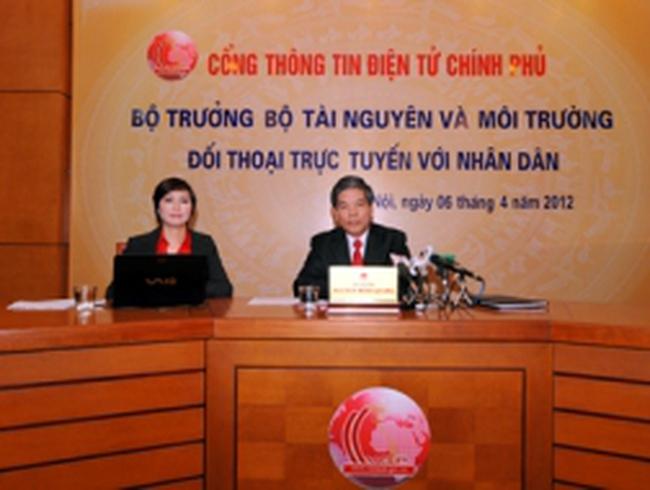 Bộ trưởng Bộ Tài nguyên và Môi trường đối thoại trực tuyến với nhân dân