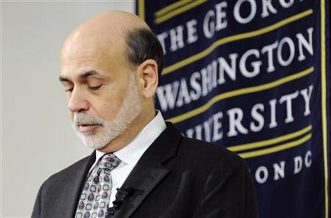 Bernanke: Muốn tăng trưởng, Mỹ phải lấp lỗ hổng hệ thống tài chính