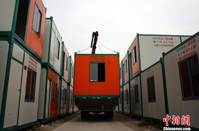 Trung Quốc: Sốt thuê nhà container di động 700.000 VNĐ/tháng