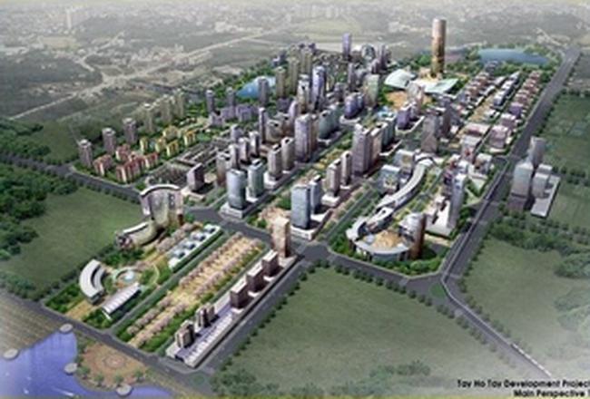 Dự án Khu đô thị Tây Hồ Tây chưa có Quyết định cho thuê đất
