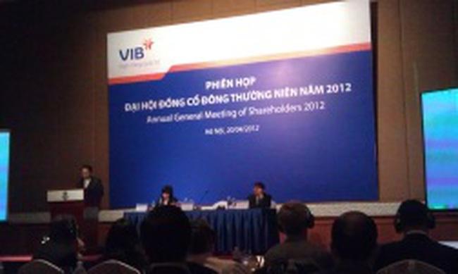 VIB: Năm 2012 đặt kế hoạch đạt 1.728 tỷ đồng lợi nhuận trước thuế