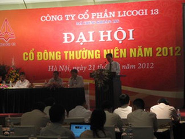 Licogi 13: Dự kiến doanh thu hợp nhất năm 2012 khoảng 1000 tỷ đồng