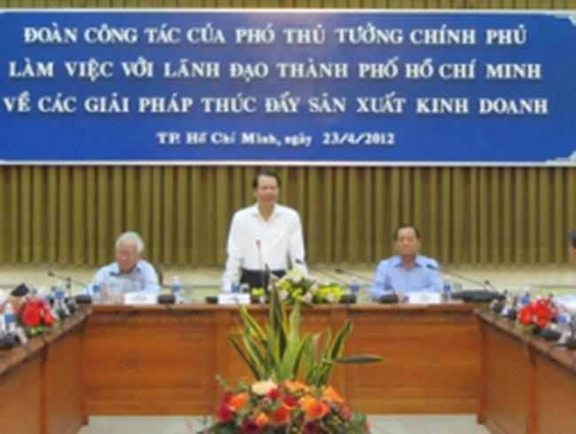 Phó Thủ tướng Vũ Văn Ninh làm việc với TP Hồ Chí Minh