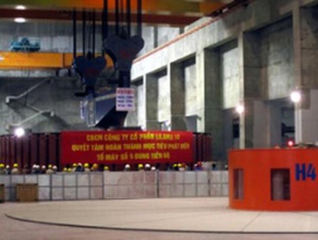 Thủy điện Sơn La khởi động tổ máy số 5