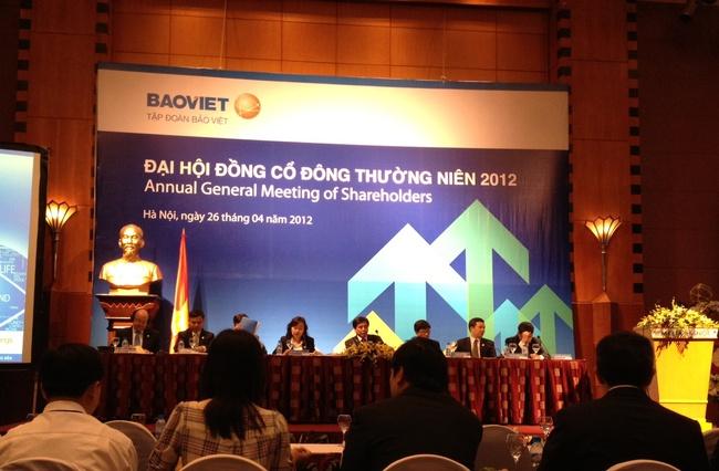 ĐHCĐ BVH: Năm 2012 công ty mẹ sẽ góp vốn vào các công ty con 1.000 tỷ đồng