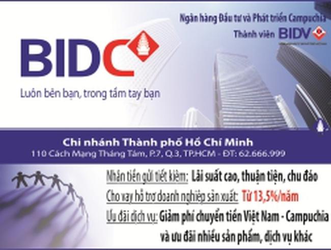 BIDC Thành phố HCM công bố giảm lãi suất cho vay