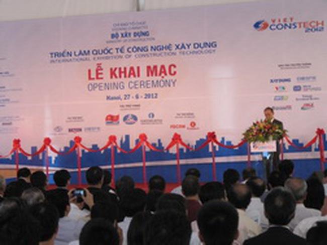 Khai mạc triển lãm quốc tế công nghệ xây dựng Vietconstech 2012