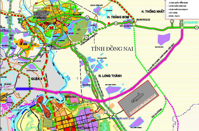 Mở đường dẫn tạm nối với đường cao tốc TPHCM-Long Thành-Dầu Giây