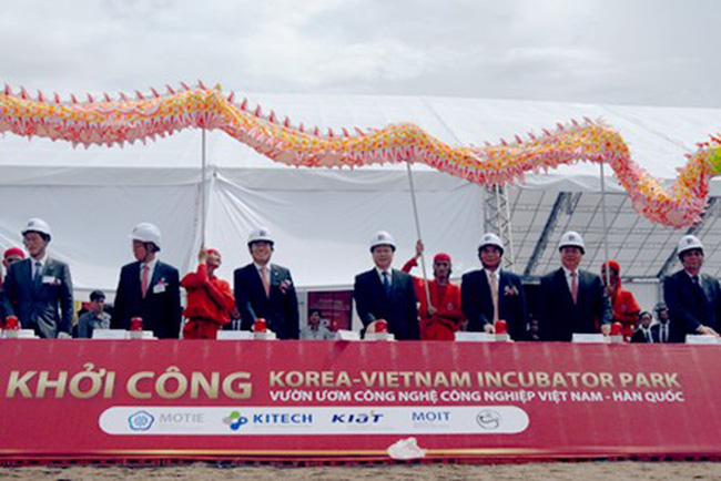 Khởi công Vườn ươm công nghệ công nghiệp Việt Nam-Hàn Quốc