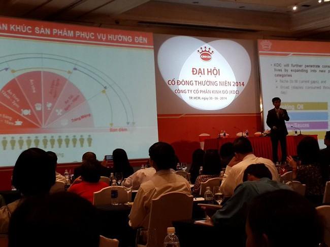 [ĐHCĐ] Kinh Đô: Xác định đầu tư vào các ngành giúp KDC đạt vị trí top 3 trở lên