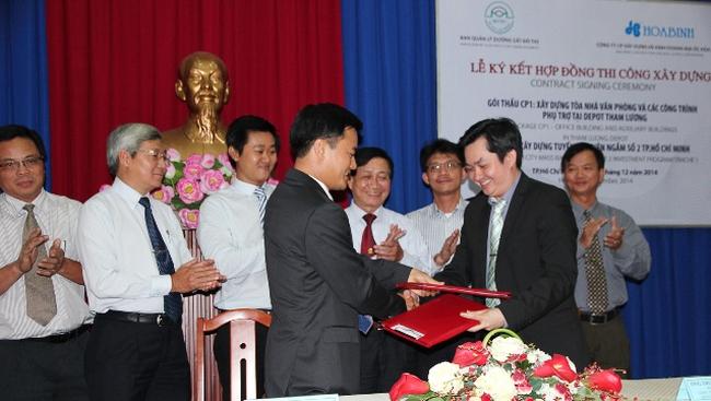 Hòa Bình Corp. ký hợp đồng gói thầu Tuyến Metro số 2 trị giá 173 tỉ đồng