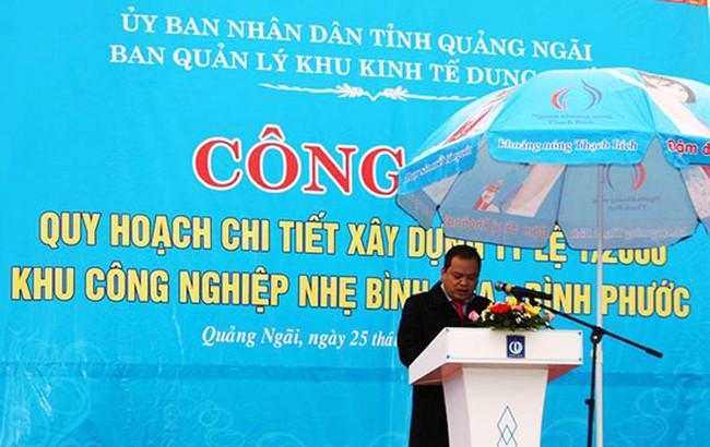 Quảng Ngãi: Công bố Quy hoạch chi tiết KCN nhẹ Bình Hoà-Bình Phước
