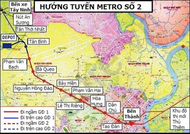 ADB xem xét tài trợ 300 triệu USD cho tuyến metro số 2