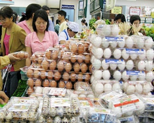 Giá trứng gia cầm lại tăng