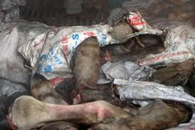 Nghi ngờ về đường dây kinh doanh thịt thối Bắc-Nam
