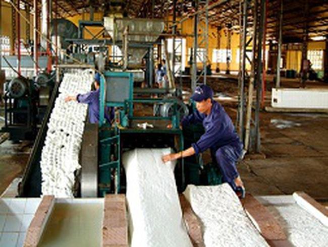 Tiếp tục kiến nghị miễn giảm thuế xuất khẩu cao su tự nhiên