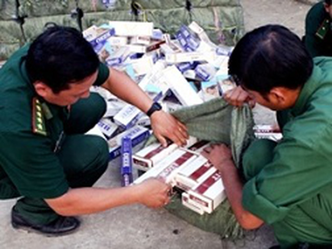 Gần 1 tỷ bao thuốc lá nhập lậu tràn vào VN năm 2013