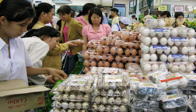 Giá trứng gia cầm, gà công nghiệp giảm sâu