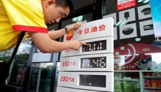 Trung Quốc thông báo tăng giá xăng dầu từ ngày 29/11
