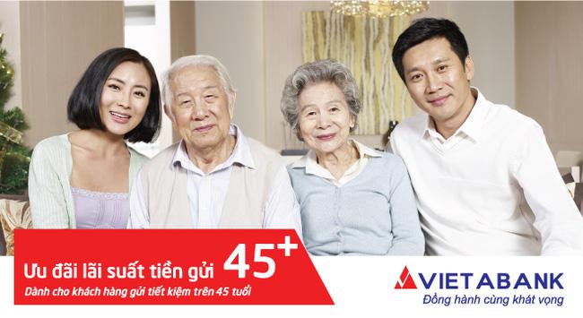 Ưu đãi đặc biệt cho khách hàng trên 45 tuổi