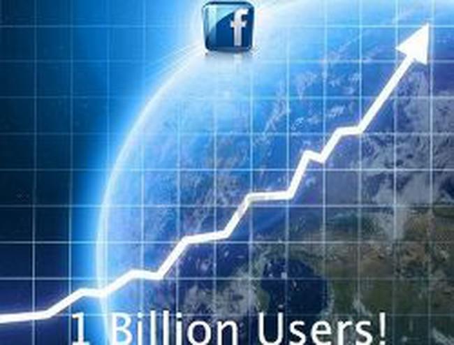 Mạng xã hội Facebook chính thức cán mốc 1 tỷ người dùng