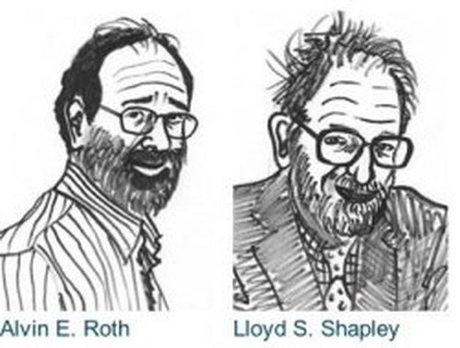 """2 người Mỹ """"ẵm"""" giải Nobel Kinh tế 2012"""