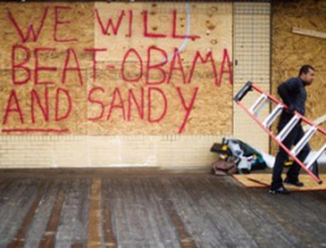 Siêu bão Sandy và cuộc chạy đua vào Nhà Trắng